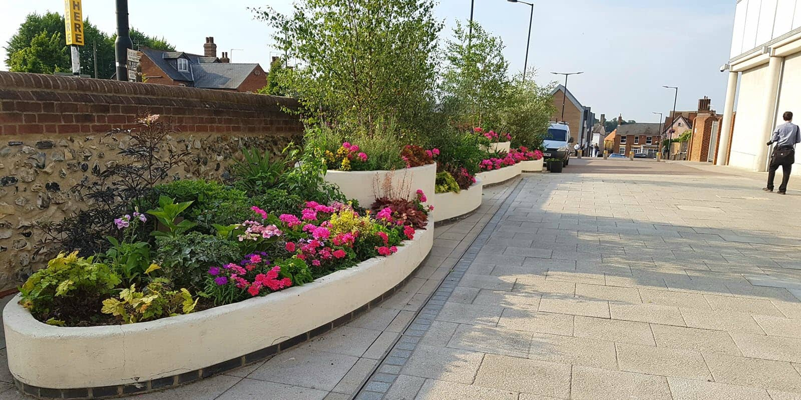 Commercial Garden Maintenance by CCG Gardeners, The Arc, Bury In Bloom Bury St Edmunds