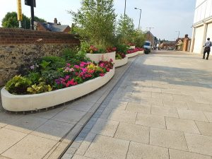 Commercial planter maintenance service by CCG Gardeners in Bury St Edmunds