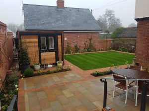 Completed new garden design by CCG Gardeners in Bury St Edmunds