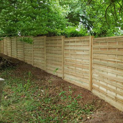 Garden fencing by CG Gardeners